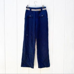 Elevenses linen navy inspired pants extra small